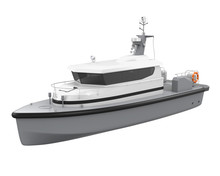 Patrol Boat Isolated