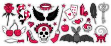 Set Of Black Magic Stickers, P...