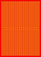 Orange Rectangles On A Red Background - Lilleaker