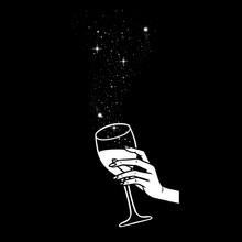 Cheers, Girls Drinking, Hands ...