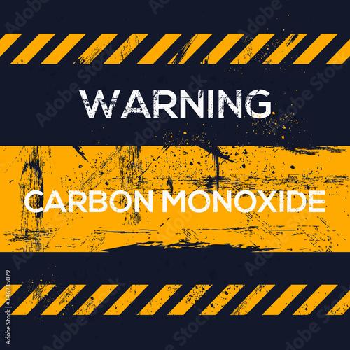 Photo Warning sign (carbon monoxide), vector illustration.