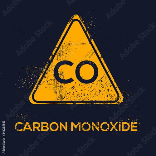 Warning sign (carbon monoxide), vector illustration. Canvas Print