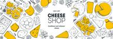 Cheese Design Template. Hand D...