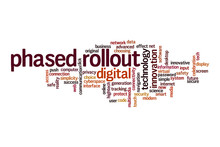Phased Rollout Word Cloud Concept