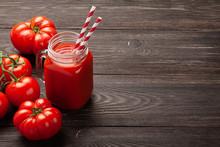 Fresh Tomato Juice And Ripe To...