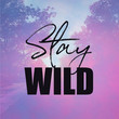 canvas print picture - Inspirational Quote with pink nature background - Stay Wild