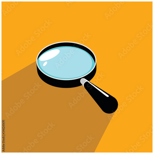 magnifying glass Magnifying glass round icon for search and zoom symbol, sign and magnifier logo Canvas Print