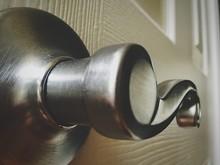Close Up Of Metal Door Handle