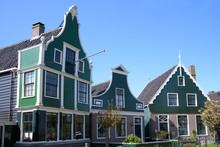 Traditional Dutch Houses On Th...