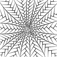 Geometric Abstract Background. Zen Tangle. Black And White Template For Card, Invitation, Textile And Wrapping. Adult Coloring Books. Hand Draw Vector Illustration.