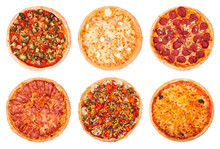 Set Of Six Various Pizza Isola...