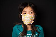 Portrait Of Asian Girl Wearing...