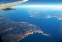 Aerial Photo Of The Strait Of Gibraltar, Spain And Morocco