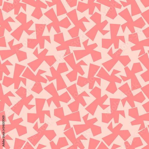 Photo Trendy seamless pattern with graphic abstract shapes