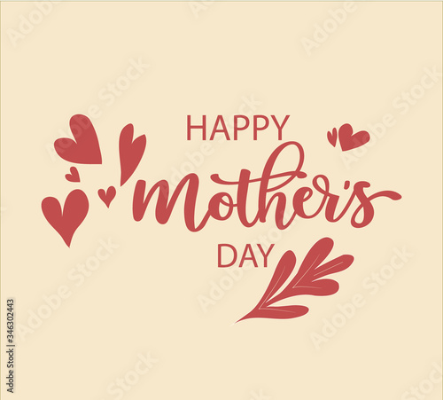 Happy mother's day vector | beautiful happy mother's day card| Mother's Day Card Billede på lærred