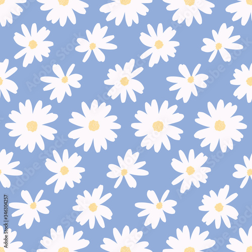 Foto Simple daisy flower background pattern vector