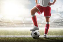 Soccer Closeup. Leg Of Soccer ...