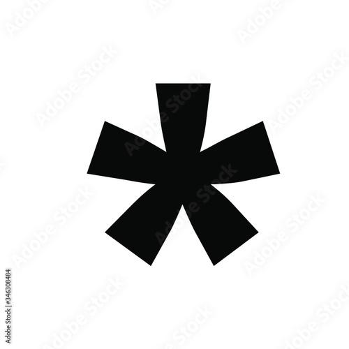 black icon vector line art - star weird abstract Canvas Print