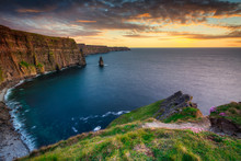 Amazing Cliffs Of Moher At Sun...