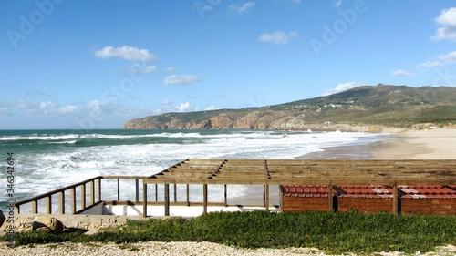 Terrace With Pergola At Seaside Fototapeta