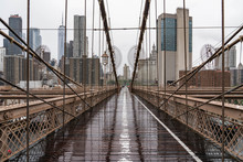 Brooklyn Bridge. Rainy Brookly...