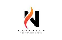 Creative N Letter Logo Design ...