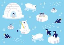 南極の動物たち イラ...