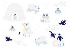 南極の動物たち イラスト