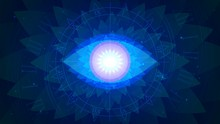 Magic Blue All-seeing Eye On A...