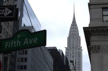 Low Angle View Of Chrysler Building In City Against Sky