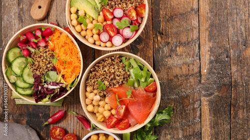 Photo buddha bowl- assortment of health food