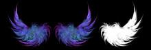 Gradient Blue Wings In The Dar...