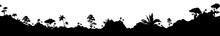 Jungle Landscape Black Silhoue...