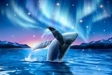 Whale Breaching With Dreamy Au...