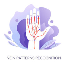 Vein Pattern Recognition, Authentication And Access To Data