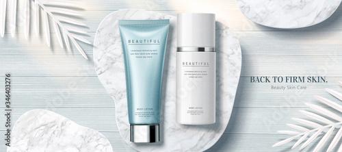 Fototapeta Clear skincare product banner ads obraz