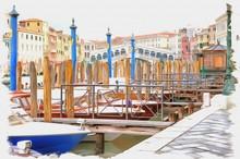 Gondolas. Imitation Of A Pictu...