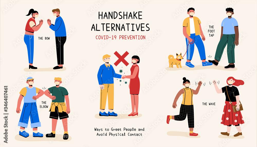Fototapeta Greeting without handshakes
