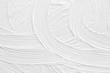 3 D Texture Of White Paint Wit...