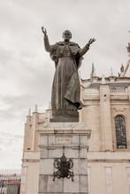 Vertical Shot Of Pope John Pau...