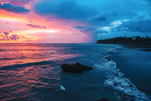 Colorful Pink Tropical Sunset....