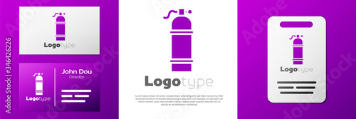 Logotype Aqualung icon isolated on white background Canvas Print