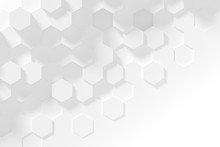 Hexagonal White Abstract Backg...