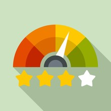 Star Rating Credit Score Icon....