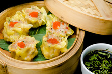 Asian Oriental Food Bamboo Ste...