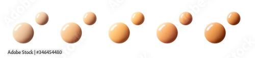 Foto Liquid foundation and makeup primer color matching horizontal banner format