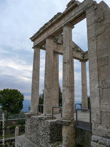 Canvas temple of Hercules in cori lazio