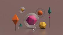Colorful Geometric Shapes. Gla...