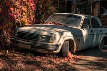 Old Rusty Russian Car. Abandon...