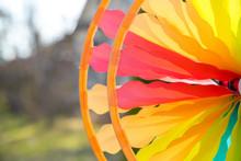 Colorful Pinwheel Spinning In ...